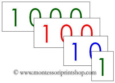 Small Number Cards - Printable Montessori Materials for home and school.