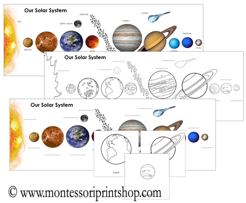 Our Solar System Charts: Printable Astronomy Materials