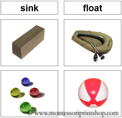 Sinking And Floating Pictures Sink And Float Sorting Cards
