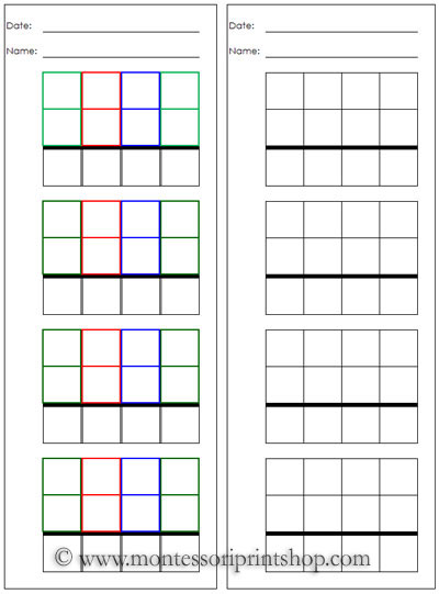 Worksheets Montessori Math Worksheets free stamp game papers printable montessori math materials