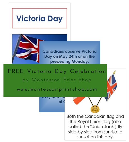 Victoria Day Teaching Cards and Booklet - Printable Holiday & Celebration Cards for Montessori Learning at home and school.