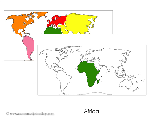 The World Flash Cards - Printable Montessori Geography Learning Materials for home and school.