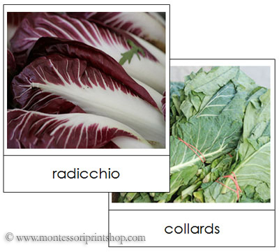 Leaf Vegetable Picture Cards (Image from Montessori Print Shop)