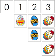 0 to 10 Numbers and Counters (Eggs) - Printable Montessori Math Materials by Montessori Print Shop.