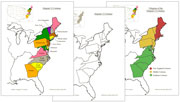 13 Original Colonies of the USA - Printable Montessori Geography Materials for home and school.