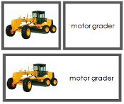 Construction Vehicles - Words & Picture Cards | Montessori Print Shop