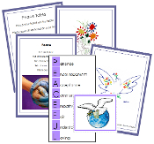 Peace Table Cards - Printable Montessori peace materials by Montessori Print Shop.
