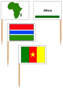 African Flags - pin flags - Printable Montessori Geography Materials by Montessori Print Shop.