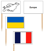 European Flags: pin flags - Printable Montessori Geography Materials by Montessori Print Shop.