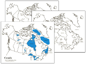Water Bodies Map Of Canada.Canadian Bodies Of Water Maps Montessori Print Shop
