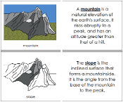 Mountain Nomenclature Book - Printable Montessori Nomenclature Materials by Montessori Print Shop.