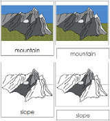 Mountain Nomenclature Cards - Printable Montessori nomenclature cards by Montessori Print Shop.