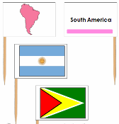 south american flags pin flags montessori print shop