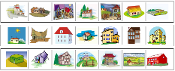 House Cutting Strips - Printable Montessori preschool Materials by Montessori Print Shop.