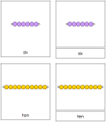Montessori Bead Nomenclature Cards - Printable Montessori Math Materials by Montessori Print Shop.