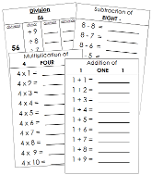 Sequential Order Math Booklets - Printable Montessori Math Materials by Montessori Print Shop.