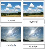 Types of Clouds (cards) - Printable Montessori Science Cards by Montessori Print Shop.