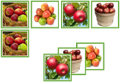 Apple Matching Cards - Printable Montessori preschool materials by Montessori Print Shop.