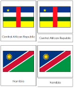 African Flag Cards - Printable Montessori Geography Materials by Montessori Print Shop.