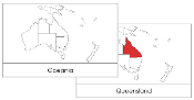 Australia/Oceania Flashcards (red) - Printable Montessori geography materials by Montessori Print Shop.