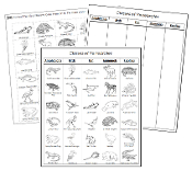 Classes of Vertebrates Sorting Blackline Masters - Montessori Print Shop