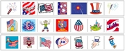US 4th of July Cutting Strips - Printable Montessori preschool Materials by Montessori Print Shop.