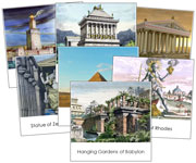 7 Wonders of the Ancient World - Printable Montessori History Materials for home and school.