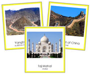 Asian Landmarks - Printable Montessori geography materials by Montessori Print Shop.