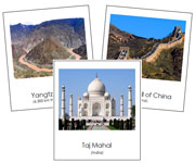 Asian Landmark Cards - Printable Montessori geography materials by Montessori Print Shop.