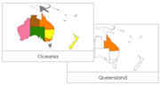 Australia/Oceania Flashcards - Printable Montessori geography materials by Montessori Print Shop.
