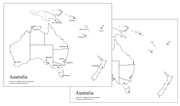 Australian Capital Cities Map - Printable Montessori geography materials by Montessori Print Shop.