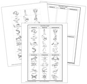 Animals: How Many Legs? - Blackline Masters. Printable Montessori Zoology by Montessori Print Shop.