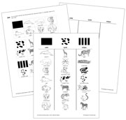 Animal Stripes, Spots or Solid? - Blackline Masters. Printable Montessori science materials by Montessori Print Shop.