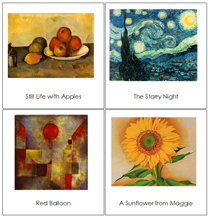 3-Part Art Cards (No Border) - Printable Montessori materials by Montessori Print Shop.