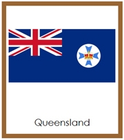 Australia State & Territory Flags - Printable Montessori Geography materials by Montessori Print Shop.