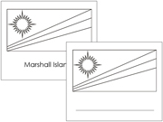 Oceania Flags: Outlines - Printable Montessori Geography Materials by Montessori Print Shop.