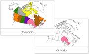 Canadian Provinces & Territories Flashcards - Printable Montessori geography materials by Montessori Print Shop.