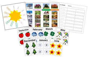 Printable Calendar Supplies - printable Montessori calendar materials by Montessori Print Shop