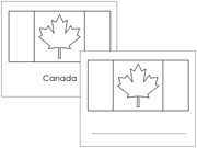 Canadian Flags: Outlines - Printable Montessori Geography Materials by Montessori Print Shop.