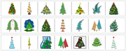 Christmas Tree Cutting Strips - Printable Montessori preschool Materials by Montessori Print Shop.