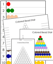 Montessori Colored Bead Control Chart - Printable Montessori math materials by Montessori Print Shop.