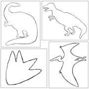 Dinosaurs Pin Poking & Cutting - Printable Montessori materials by Montessori Print Shop.