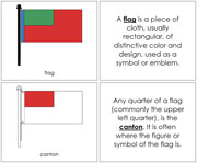 Flag Nomenclature Book (red) - Printable Montessori Nomenclature Materials by Montessori Print Shop.