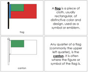 Flag Nomenclature Book - Printable Montessori Nomenclature Materials by Montessori Print Shop.