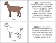 Goat Nomenclature Book - Printable Montessori Nomenclature Materials by Montessori Print Shop.