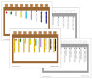 Hanging Bead Stair Extension Sheets - Printable Montessori math materials by Montessori Print Shop.