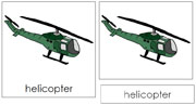 Helicopter Nomenclature Cards - Printable Montessori nomenclature cards by Montessori Print Shop.
