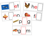 Moveable Alphabet Sound Cards for the Printable print Montessori Moveable Alphabet (black/red) - Montessori Print Shop