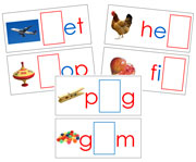 Moveable Alphabet Sound Cards for the Printable print Montessori Moveable Alphabet (red/blue) - Montessori Print Shop
