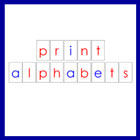 Printable Moveable Alphabets in print font